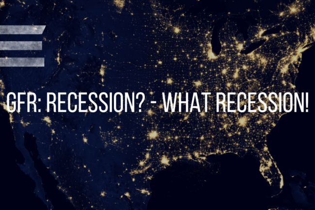 RECESSION. . .WHAT RECESSION?